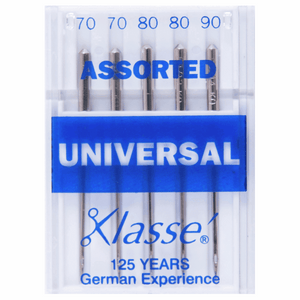 Klasse Sewing Machine Needles: Universal: Assorted: 5 Pieces