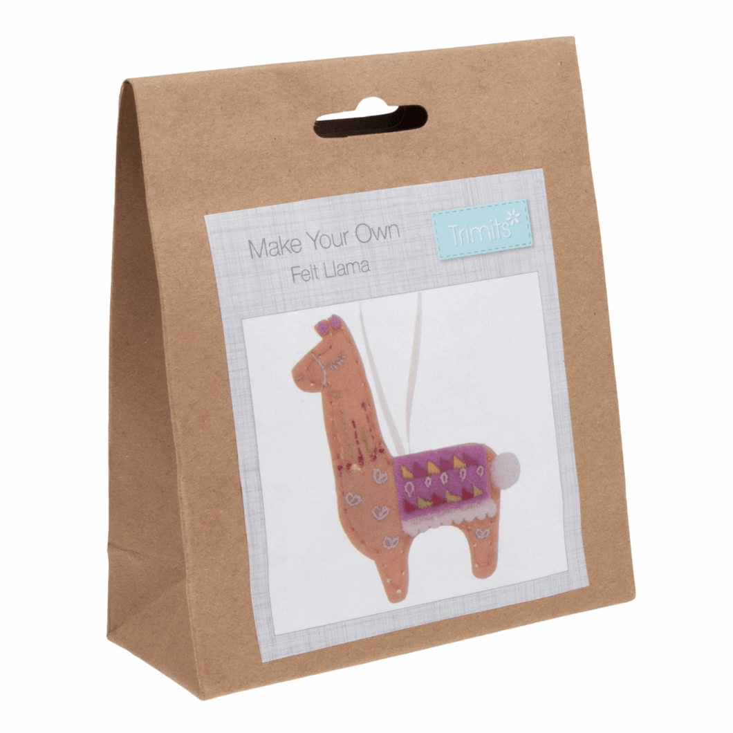 Felt decoration kit: llama