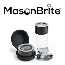 Load image into Gallery viewer, MasonBrite™ Stash Jar Lid Kit w/ 8 oz. Jar