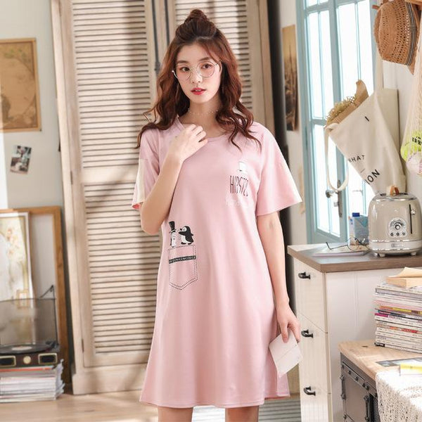 Cute Cotton Women Sleepwear Night Dress