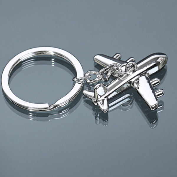 Alloy Fighter Aircraft Keychain