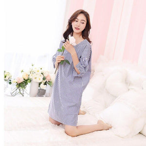 Blue and White Striped Nightdress