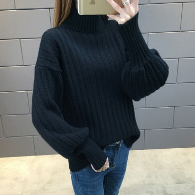 Lantern Sleeve Loose Sweater