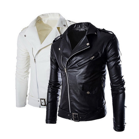 New Autumn Winter mens leather jackets