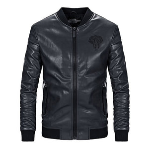 Brand Clothing Casual PU Jacket Slim
