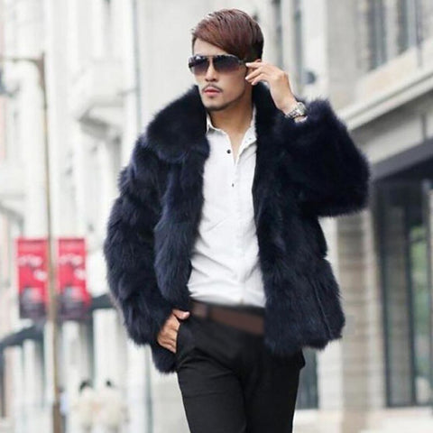 Men's Clothing Faux Fur Coats