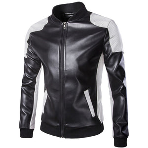Leather jacket brand clothing fashion black