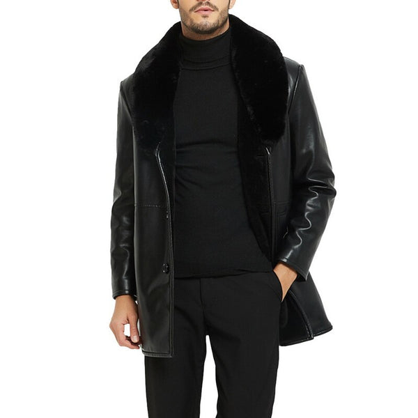 Men Winter PU Leather Jacket