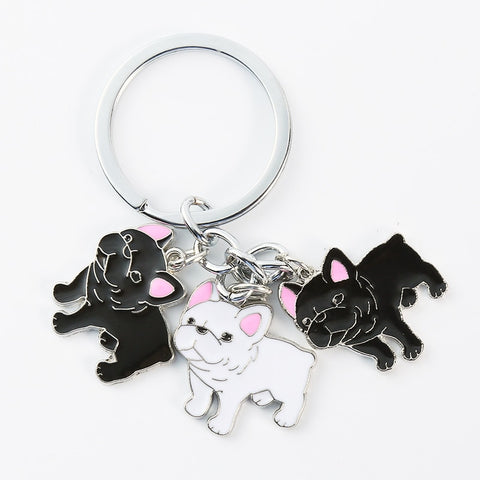 French Bulldog Car Key Chains Keyring