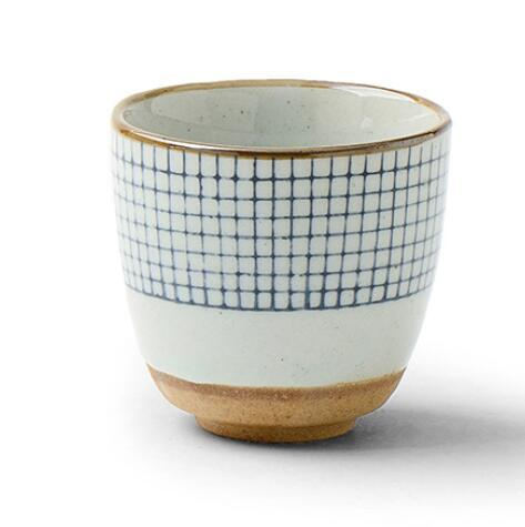 Ceramic soup cup coarse pottery hand