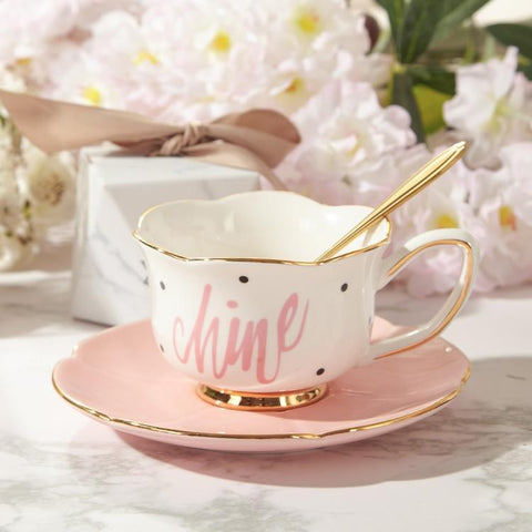 Gold Afternoon Tea Cup Saucer