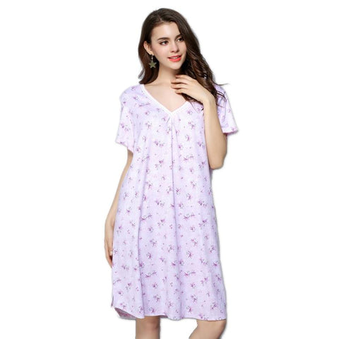 Plus size summer sexy night gown