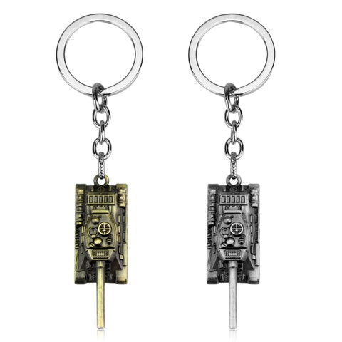 Metal Tank Key Ring Keychain Pendant