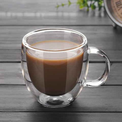 Double Wall Glass Coffee Tea Cup