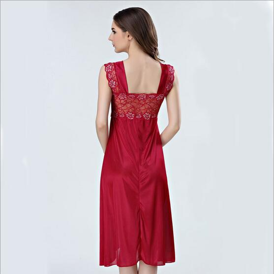 Sexy Women Nightwear Silk Night Gowns
