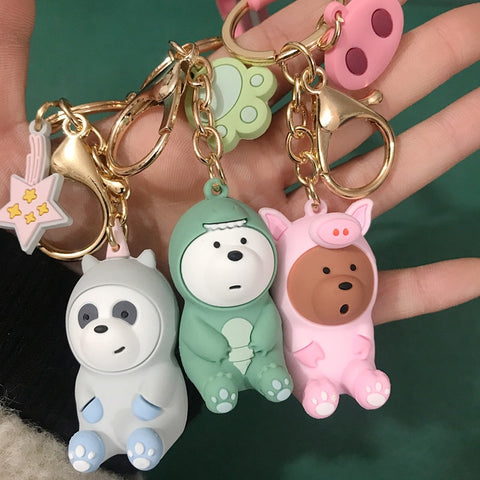 Bare bears lovely doll keychain