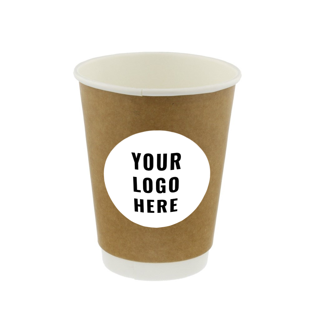 custom printed  double wall paper hot cup 12oz low minimums, high quality pricing and materials.