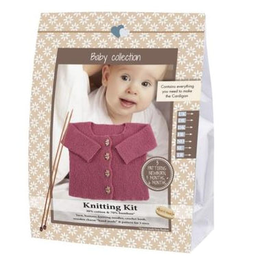 Baby Cardigan Strikkekit - Medium pink