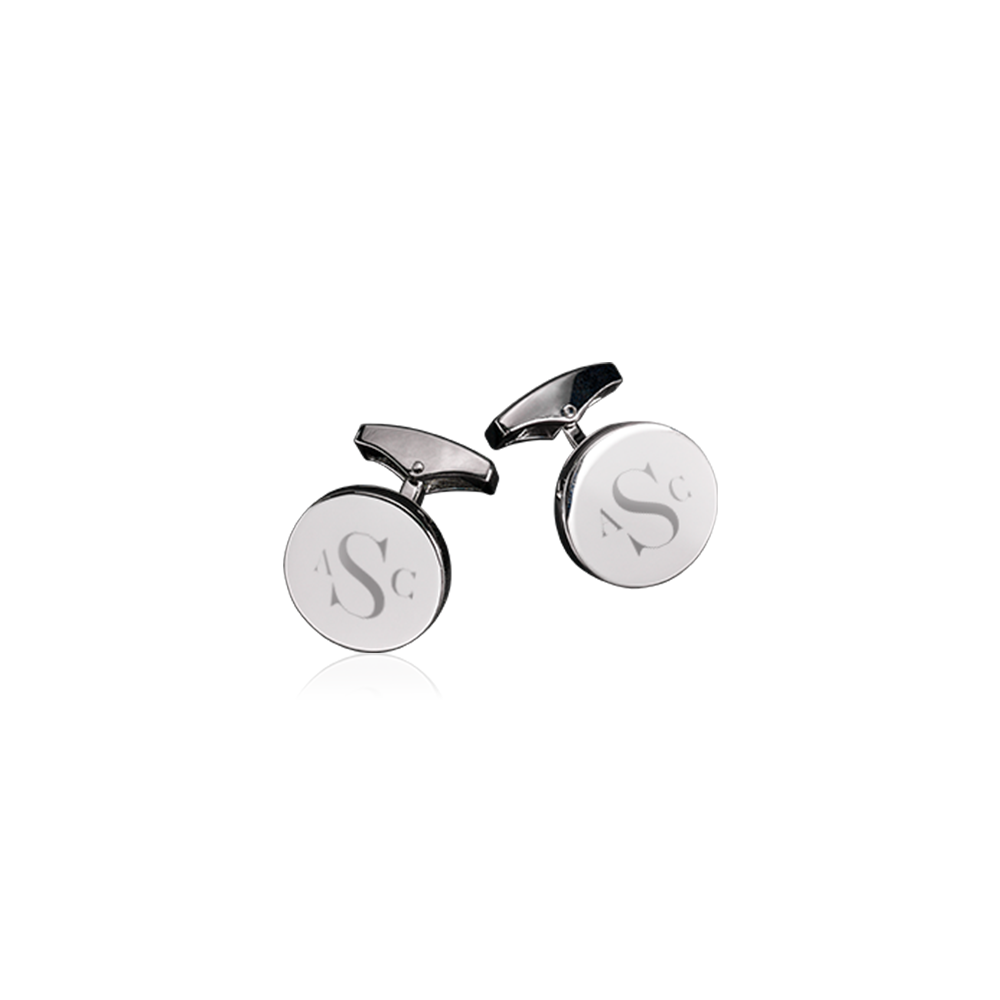 Engravable Silver Cufflinks