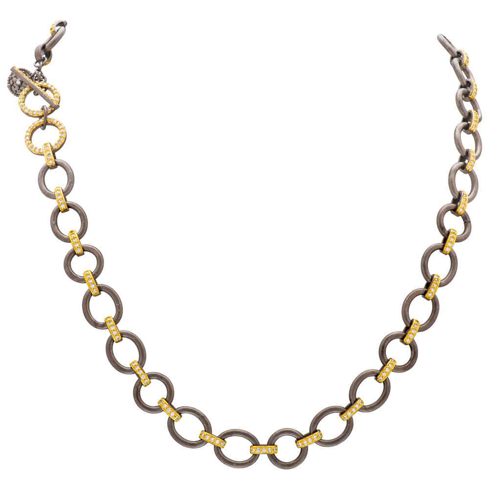 Freida Rothman Mixed Metal Necklace