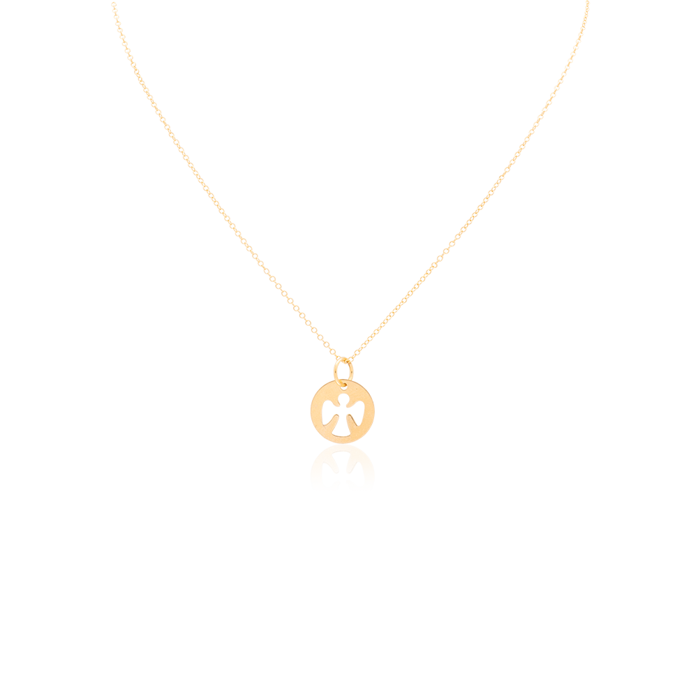 eGirl Children's Gold Filled Guardian Angel Necklace