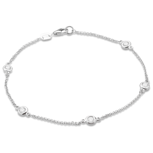 Single Strand Diamond Station Bracelet