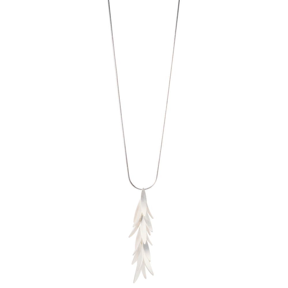 Sterling Silver Falling Petals Necklace