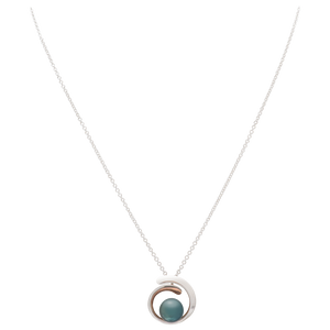 Sterling Silver Black Fresh Water Pearl Pendant