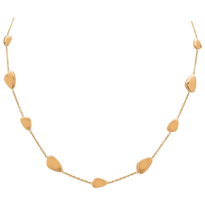 Gold Necklace with Stations