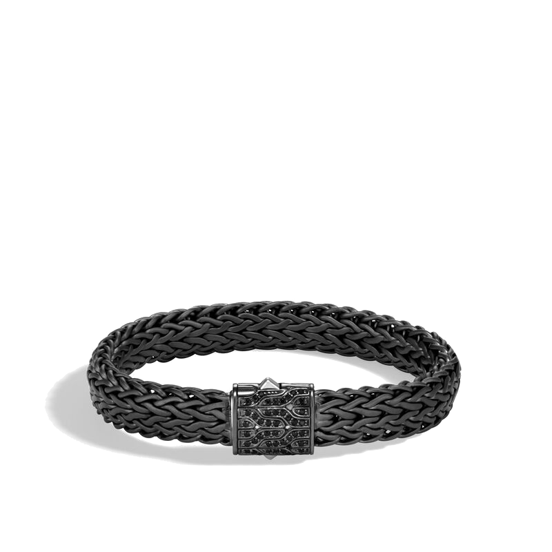 Men's John Hardy Classic Chain Bracelet with Black Sapphire