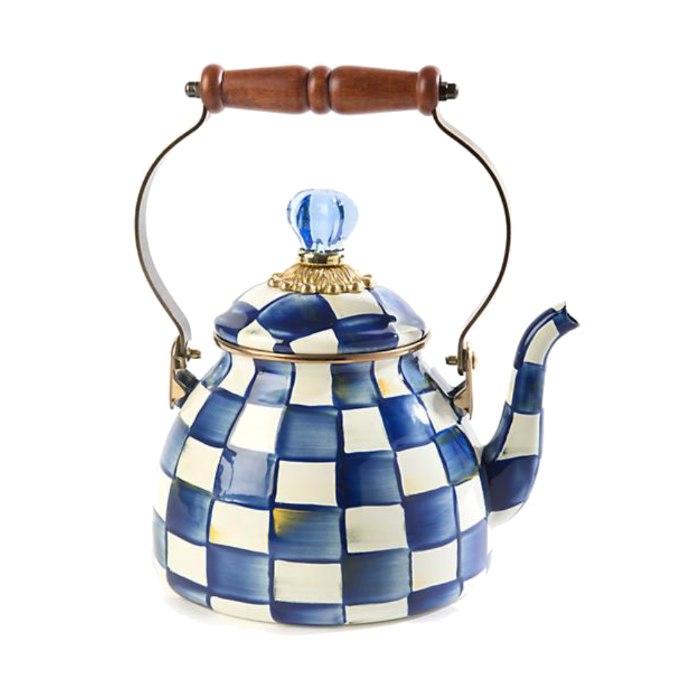 MacKenzie-Childs Royal Check Tea Kettle