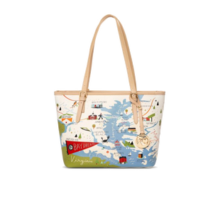 Spartina Bay Dreams Small Tote with Zipper