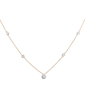 Single Diamond Pendant on Diamond Chain