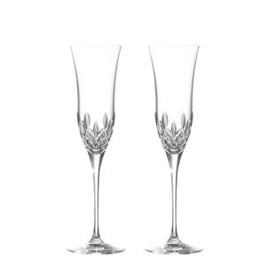 Waterford Lismore Essence Crystal Flute Set of 2