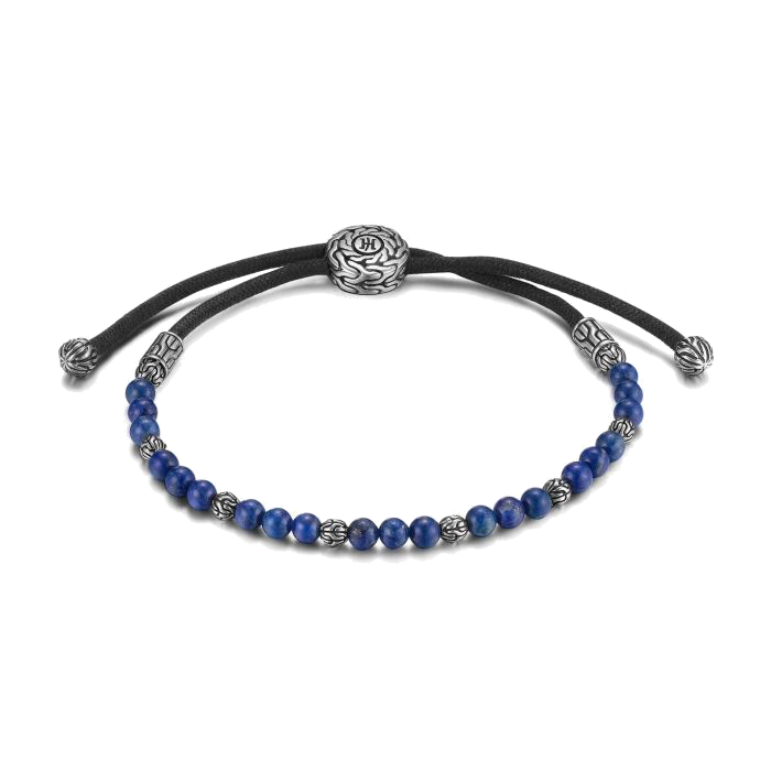 Men's John Hardy Classic Chain Pull Through Bead Bracelet with Lapis