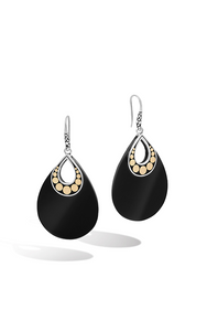 John Hardy Dot Collection Drop Earring with Black Onyx