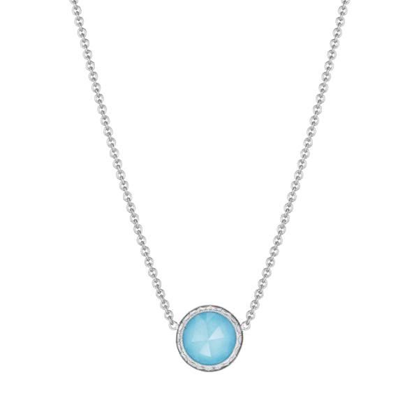 Tacori Sterling Silver Crescent Embrace Turquoise Pendant