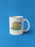 Sly the Snail ceramic coffee mug design by Hector and Bone