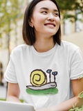 Sly the Snail Cotton T-shirt - Design by Hector and Bon
