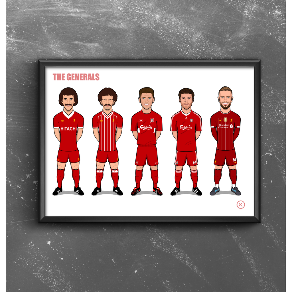 The Generals (McDermott, Souness, Gerrard, Alonso & Henderson) - LFC