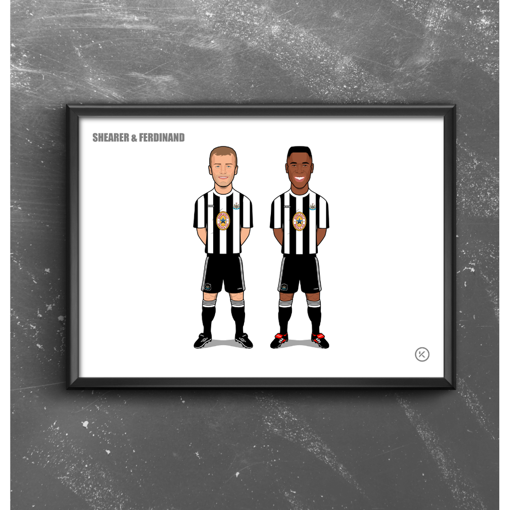 Newcastle Legends (Shearer & Ferdinand)