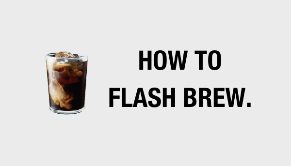 6 simple steps to flash brew coffee at home