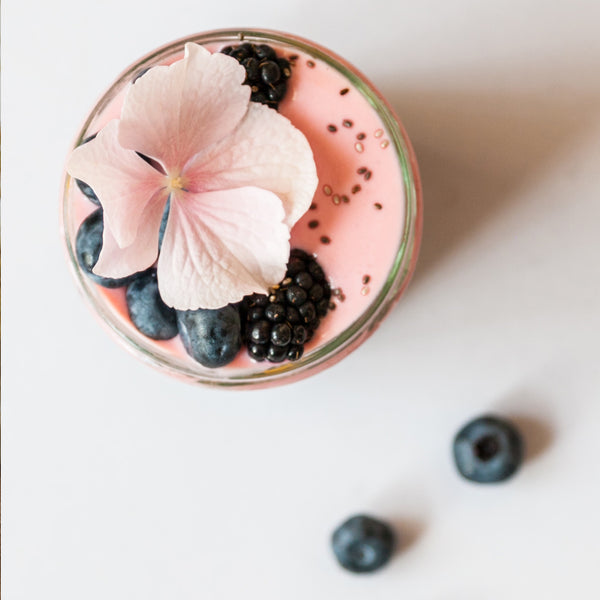 Banana blueberry and oat milk Smoothie recipe