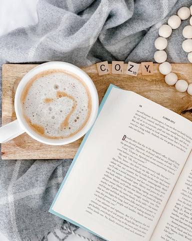 Book with a cup of coffee