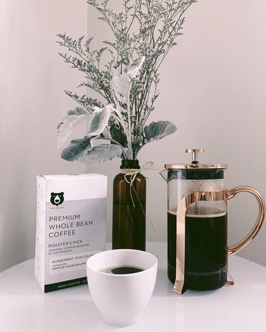Two Bears beans and French Press