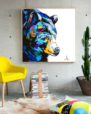 Black Bear - Canvas and Paper Prints