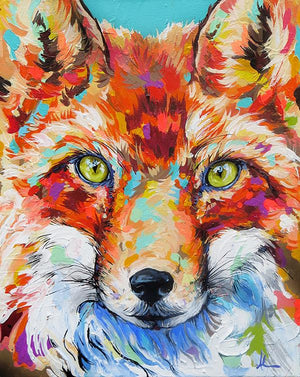Fire Eyes Fox - Canvas And Paper Prints