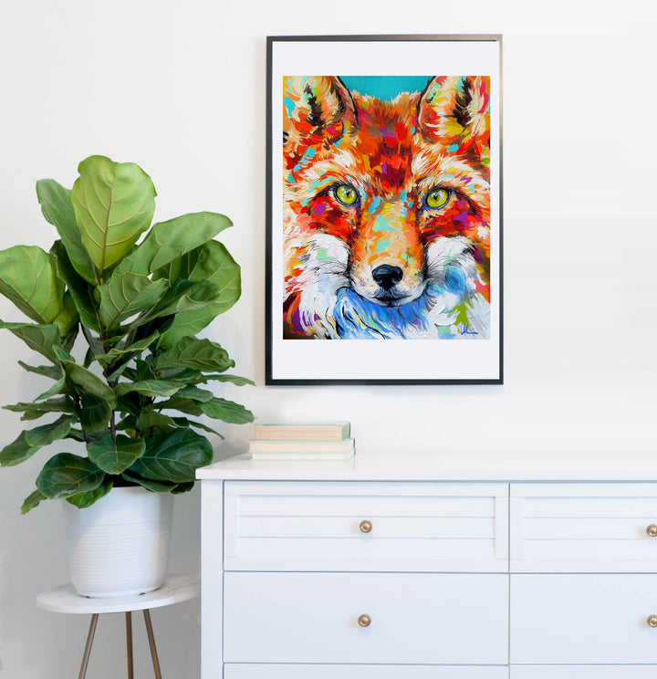 Fire Eyes Fox - Paper Prints