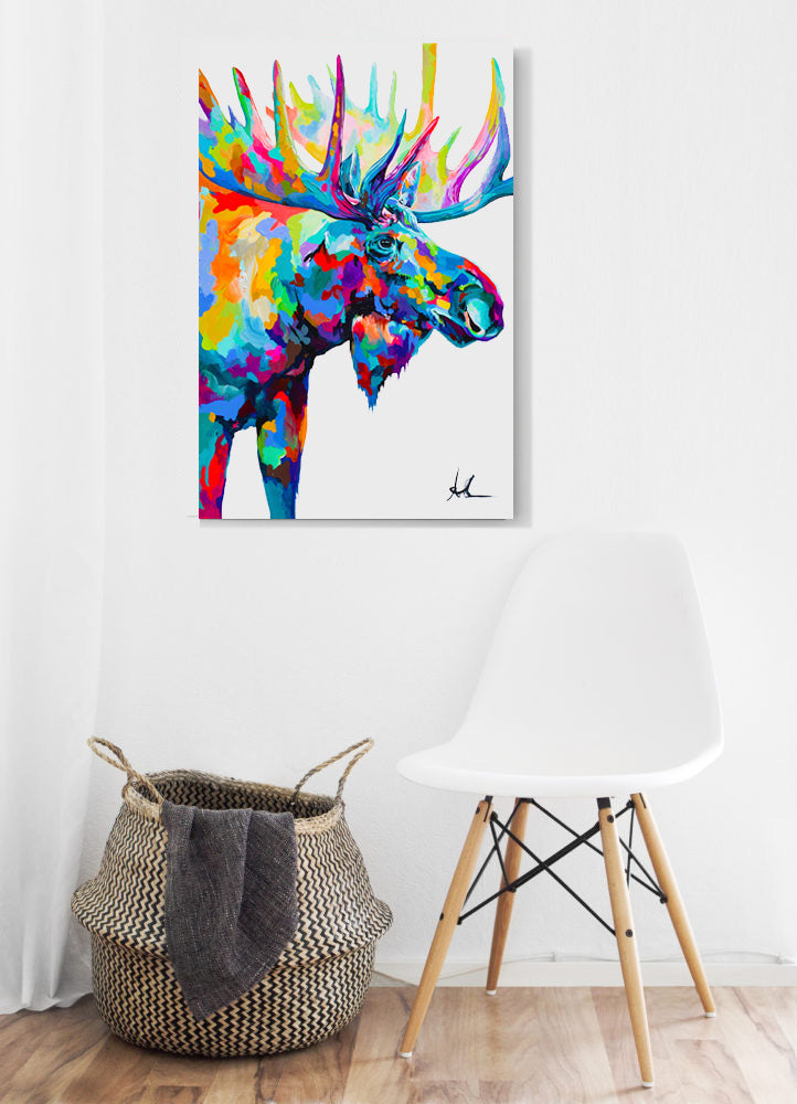The Journey Moose - Canvas Prints Small, Medium and Large