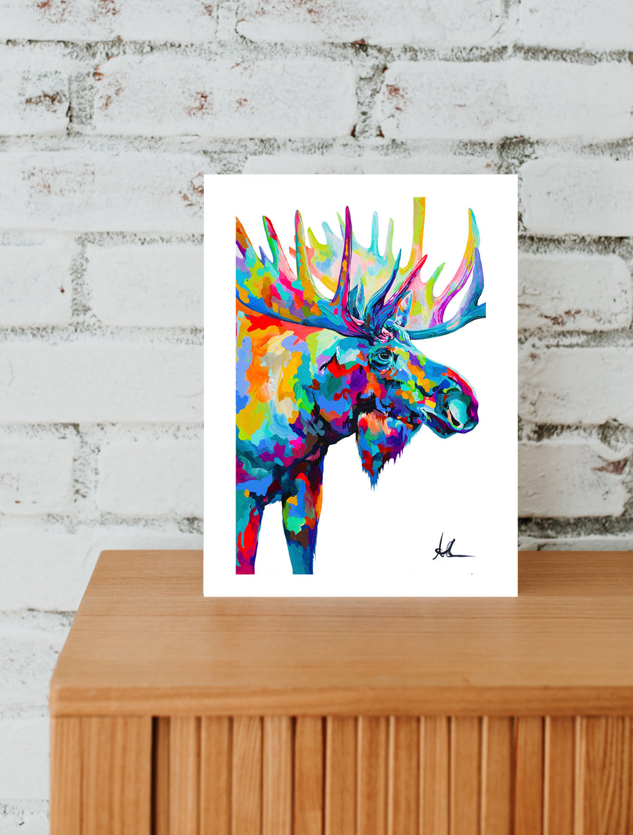 The Journey Moose- Paper Prints